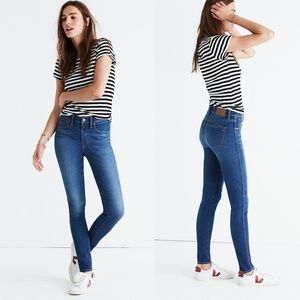 """MADEWELL 9"""" Mid-Rise Skinny Jeans in Patty Wash 25"""
